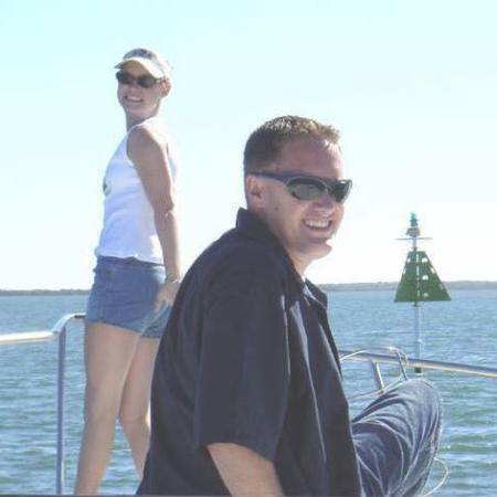 Sean and Kelsey on a boat in Australia together when they are ages 13 and 17.