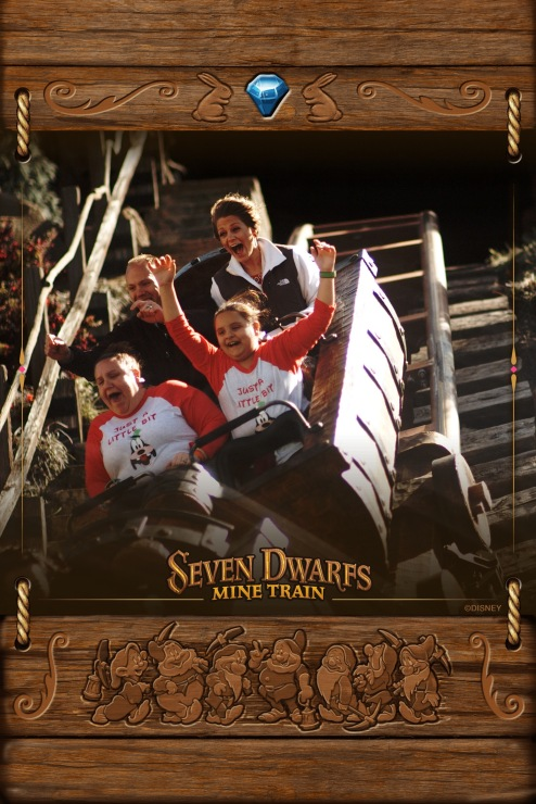 Wes and I on the Seven Dwarfs Mine Train ride at Disney World in Magic Kingdom!