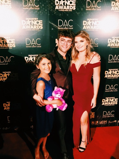 Brooke on the red carpet at Dancer's Against Cancer
