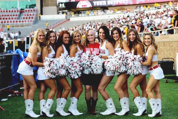 Brooke with the Texas Tech Dance Team