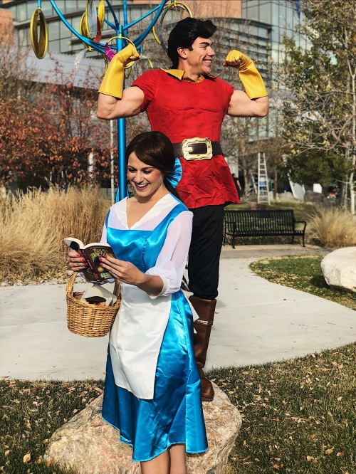 Wes and Nicole dressed up as Belle and Gaston as they go to Children's Hospital monthly to encourage and love children who are admitted.