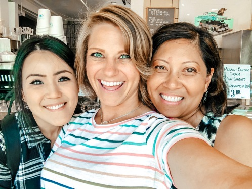 Sharon, Nicole, and Jessica taking a selfie at Rivers and Roads in Colorado