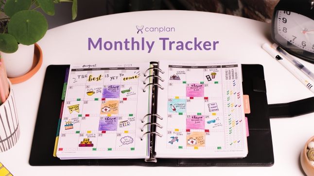 CanPlan Monthly Tracker Sample Pages