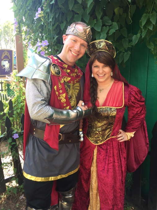 Wes and Nicole at the Renaissance Festival